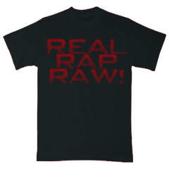 Black REAL RAP RAW Tee